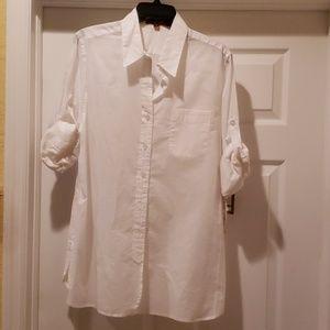 Ellen Tracy Camp Shirt L. NWT